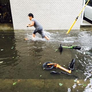 昨日のゲリラ豪雨‼️
